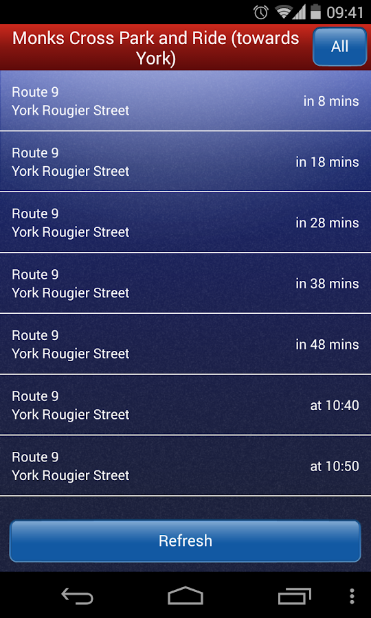 York Park & Ride- screenshot