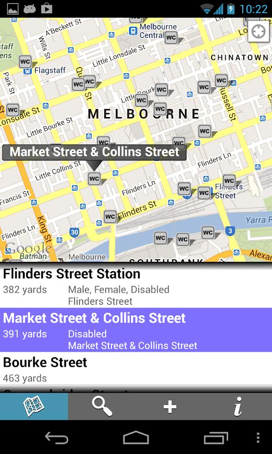 Find Toilets - screenshot