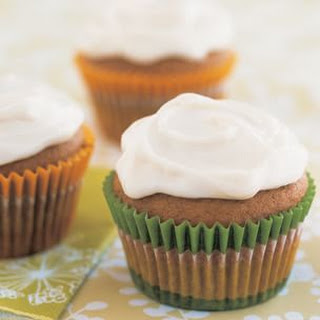 Kabocha Cupcakes with Vanilla Cream Cheese Frosting.