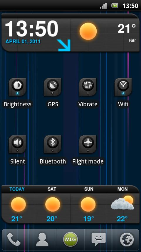MLG Lightspeed Widget Theme- screenshot