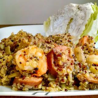 Quick and Easy Quinoa Jambalaya.