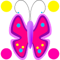 Mariposas flores Doodle Text!™ icon