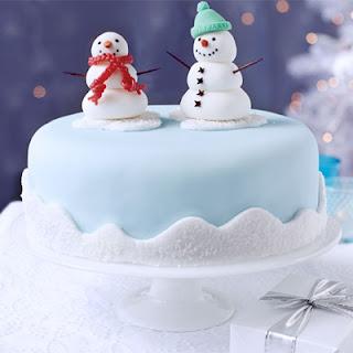 Snowman Friends Cake Decoration