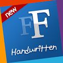 Handwritten free fonts Samsung icon