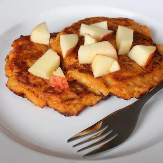 Sweet Potato, Apple, and Cinnamon Pancakes.