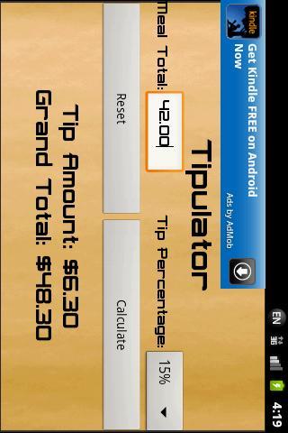 Tipulator (Tip Calculator)- screenshot