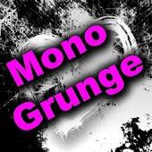 GO SMS Theme, Mono Grunge Pink