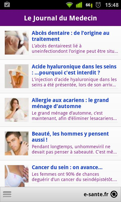 Journal du Medecin - screenshot