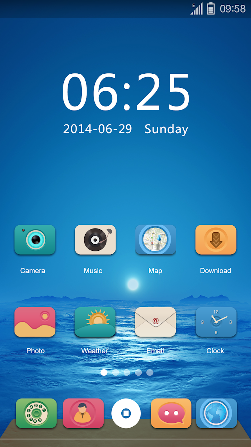 Exist GO Launcher Theme- screenshot