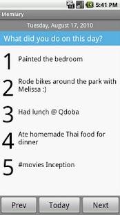 Memiary- screenshot thumbnail