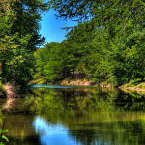 Guadalupe by Bob Barrett - Landscapes Waterscapes ( stream, guadalupe, texas, reflections, landscape, river )