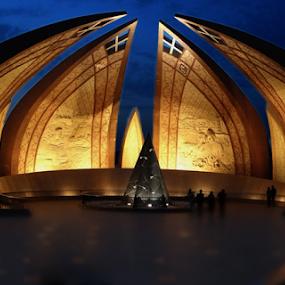 Pakistan Monument by Fahad Iqbal - Buildings & Architecture Architectural Detail ( pakistan, pakistan monument, islamabad, hdr, night, city )