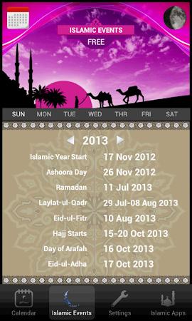 Islamic Calendar (Hijri) Free 1.4 screenshot 417432