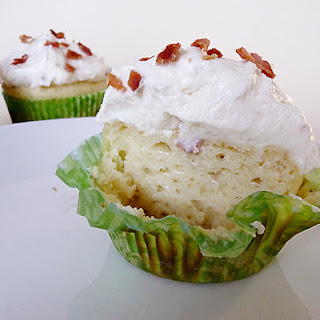 Pancake Cupcakes with Maple-Bacon Buttercream Frosting.