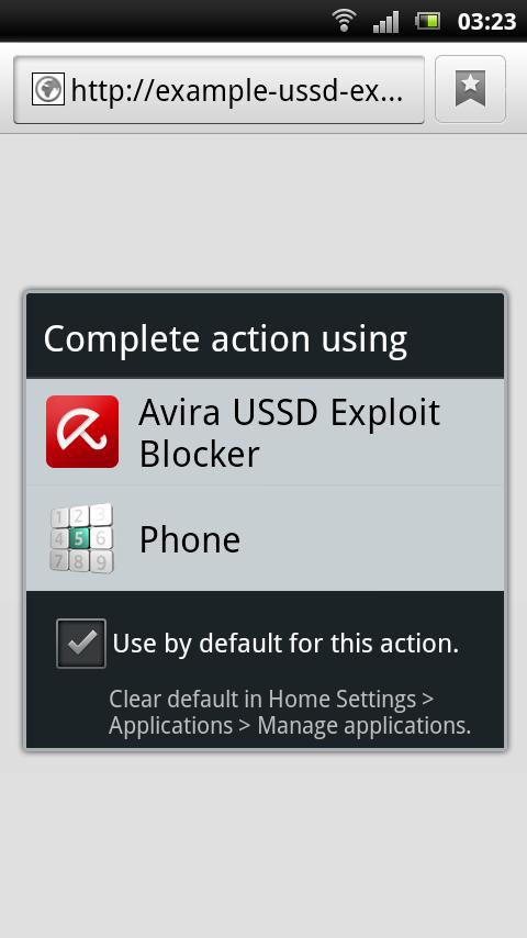 Avira USSD Exploit Blocker- screenshot