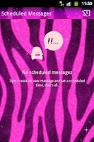 Screenshot of GO SMS Pro Theme Pink Zebra