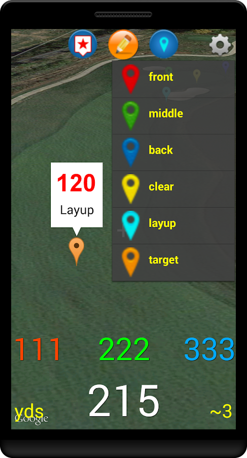 WebCaddy II GPS Golf- screenshot