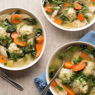 Green Chicken Soup with Dill Matzo Balls