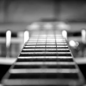 banjo  by Gav Wyatt - Black & White Objects & Still Life