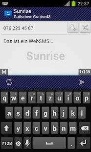 WebSMS: Sunrise Connector - screenshot thumbnail