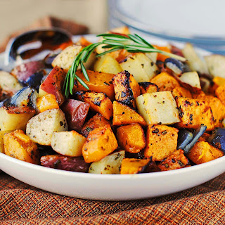 Roasted Vegetables with Fresh Herbs.
