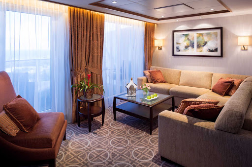 Celebrity_Silhouette_CelebSuiteLiving - Make yourself at home in your private living room on board Celebrity Silhouette.