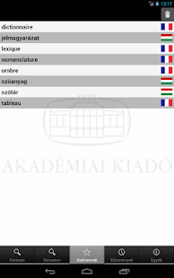 Hungarian-French Dictionary - screenshot thumbnail