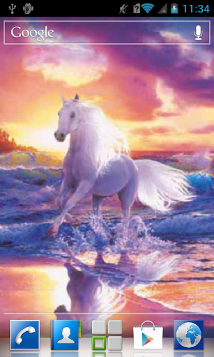 Horse galloping by the sea LWP