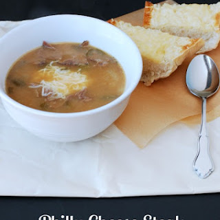Philly Cheese Steak Soup in the Slow Cooker.