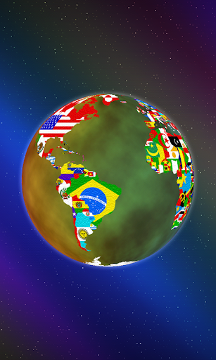 World Flag Globe LiveWallpaper