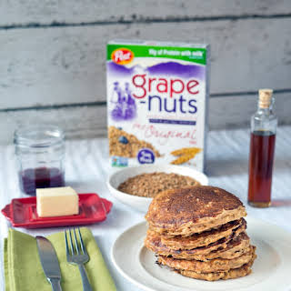 Crunchy Oatmeal Pancakes with Grape-Nuts.