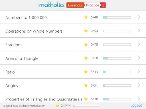 Matholia Essential Practice 5