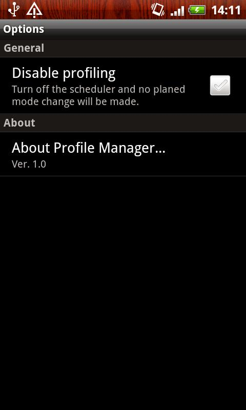 Profile Manager - screenshot