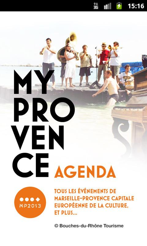 MyProvence Agenda - screenshot