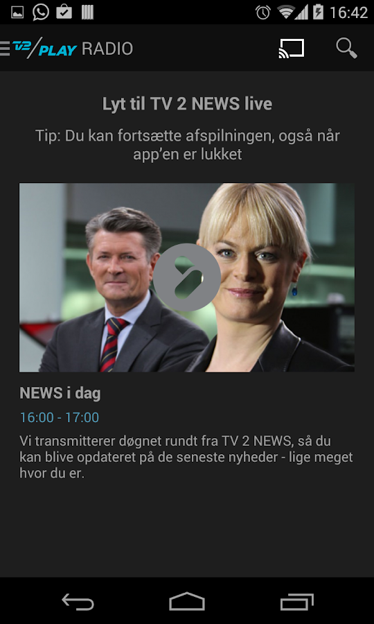 TV 2 PLAY – screenshot