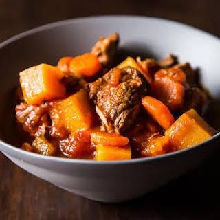 Lamb Stew with Butternut Squash.