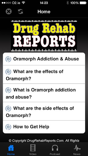 Oramorph Addiction Abuse