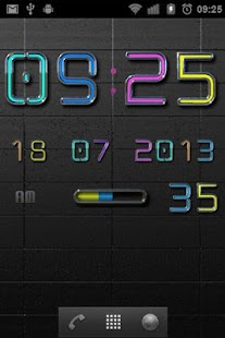 NEW NEON Digital Clock - screenshot thumbnail