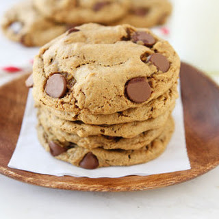 Flourless Peanut Butter Oatmeal Chocolate Chip Cookies.
