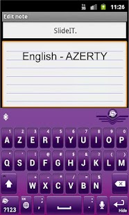 SlideIT English AZERTY Pack - screenshot thumbnail