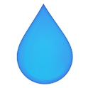 Hydro drink water icon