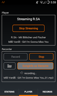 MR Recorder - Radio Streaming- screenshot thumbnail