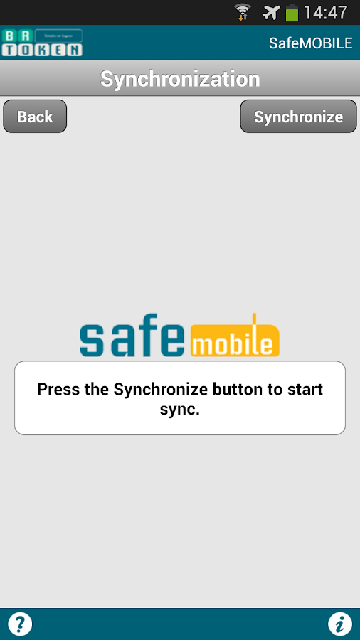 SafeMOBILE - screenshot