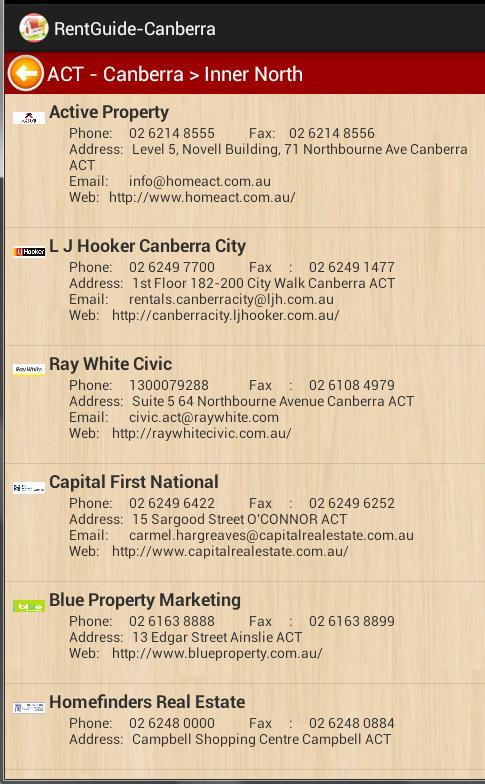 Rent Guide - Canberra - screenshot