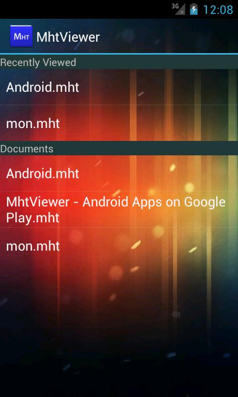 MhtViewer- screenshot
