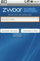 Screenshot of Zwoor Survey
