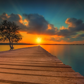 by Gus Mang Ming - Landscapes Sunsets & Sunrises ( bali, bright, sunset, yellow,  )