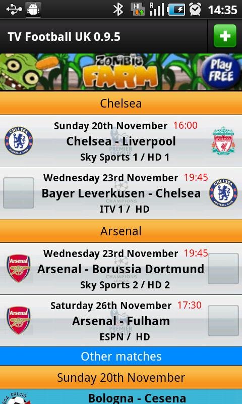 TV Football UK - screenshot