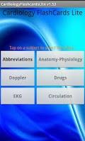 Screenshot of Cardiology Flashcards Lite