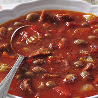 Spicy Bean Tomato and Sausage Soup